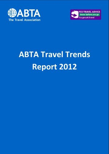 ABTA Travel Trends Report 2012 - Veille info tourisme