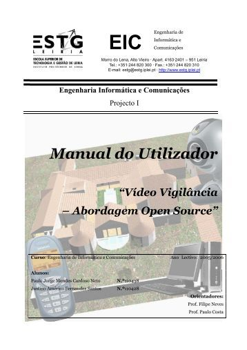 "Manual do Utilizador ""Vídeo Vigilância – Abordagem Open ... - MOSEL"