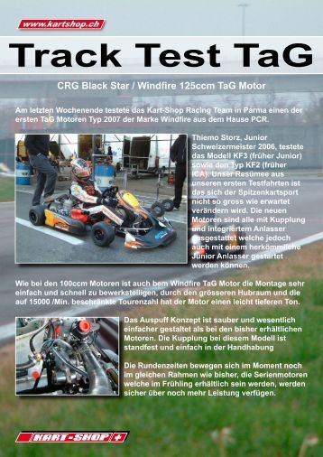 CRG Black Star / Windfire 125ccm Tag Motor - Kart Shop Rümlang