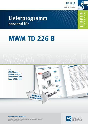 MWM TD 226 B - MS Motor Service Deutschland GmbH