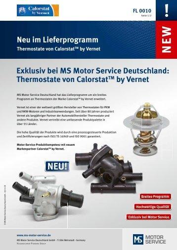 Thermostate von Vernet - MS Motor Service Deutschland GmbH