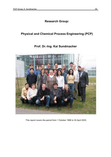 Research Group: Physical and Chemical Process Engineering (PCP ...