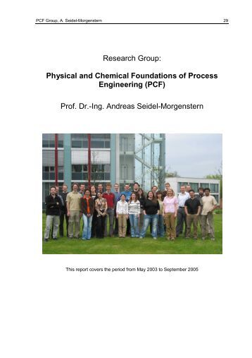 Research Group: Physical and Chemical Foundations of Process ...