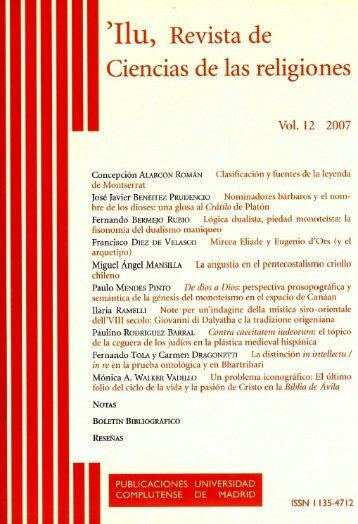 Mircea Eliade and Eugenio d'Ors - Francisco DIEZ DE VELASCO ...