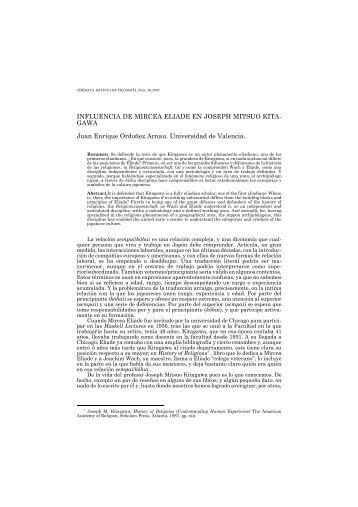 Influencia de Mircea Eliade en Joseph Mitsuo Kitagawa
