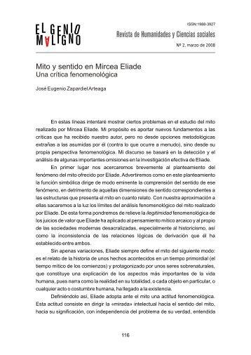 Mito y sentido en Mircea Eliade - Dialnet