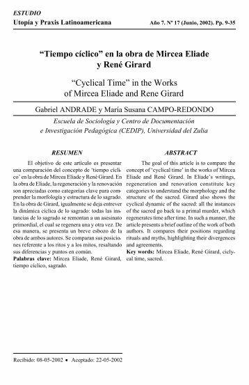 """""""Tiempo cíclico"""" en la obra de Mircea Eliade y René Girard ... - Dialnet"""