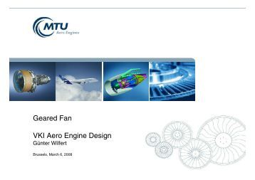 Geared Fan VKI Aero Engine Design - MTU Aero Engines