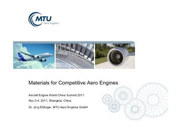 Materials for Competitive Aero Engines - MTU Aero Engines