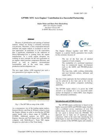 Gp7000 - MTU Aero Engines