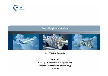 Aero Engine Materials - MTU Aero Engines