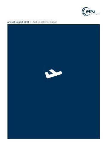 Annual Report 2011 I Additional information - MTU Aero Engines