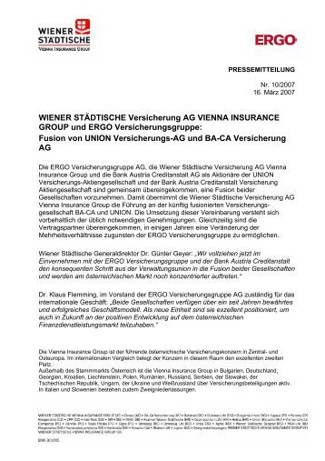 Pressemitteilung der ERGO vom 16. März 2007 (PDF - Munich Re