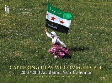 2012/2013 Academic Year Calendar - International Institute ...