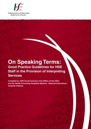 On Speaking Terms - Health Service Executive