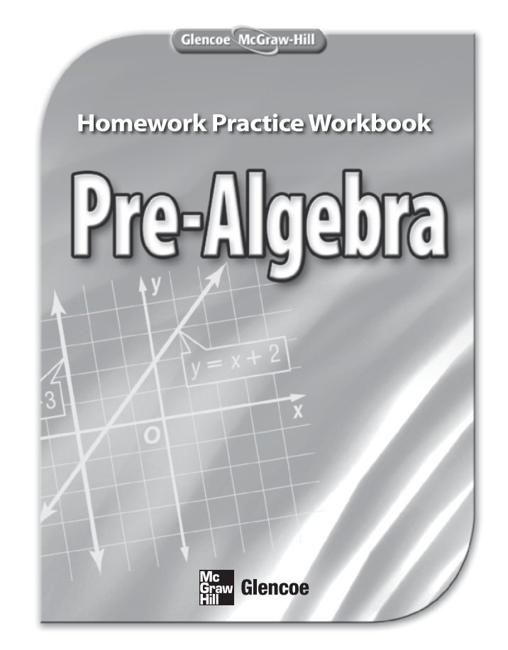 Glencoe mcgraw hill worksheet answers math