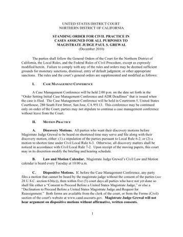 civil rules and orders pdf