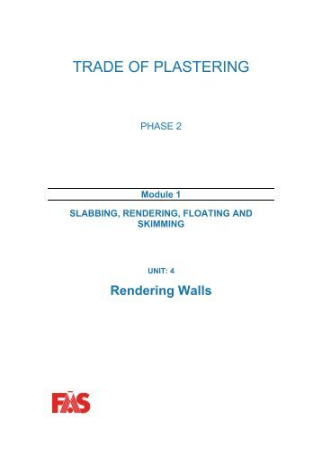 TRADE OF PLASTERING - eCollege