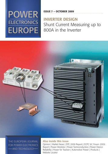 Shunt Current Measuring up to 800A in the inverter - Semikron