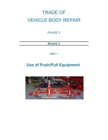 TRADE OF VEHICLE BODY REPAIR - eCollege