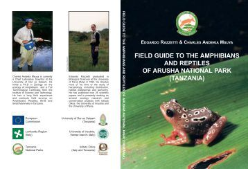 field guide to the amphibians and reptiles of arusha national park