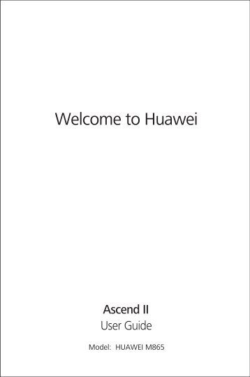 Huawei Ascend II Manual - US Cellular