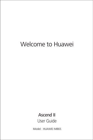 Huawei Ascend II Manual - US Cellular