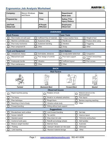 Ergonomics Worksheet - The Best and Most Comprehensive Worksheets