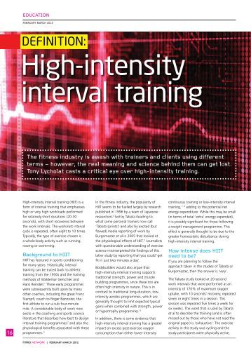 the effects of high intensity interval training Purpose the aim of this study was to compare the effects of high-intensity interval training (interval) and moderate-intensity continuous training (continuous) on aerobic capacity in cardiac patients.