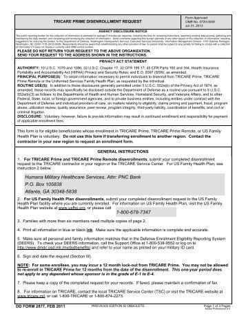 Disenrollment Form Tricare - Image Mag