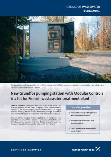 New Grundfos pumping station with Modular Controls is a hit for ...