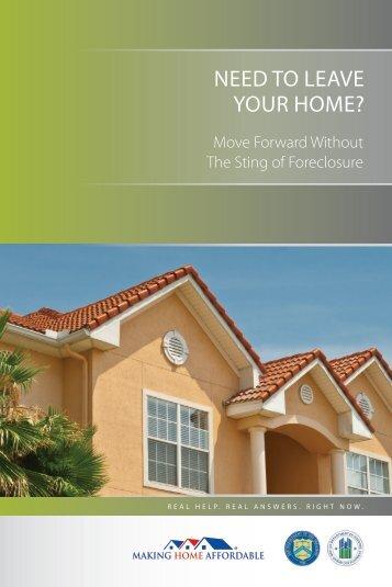 Making Home Affordable Foreclosure Alternative Program