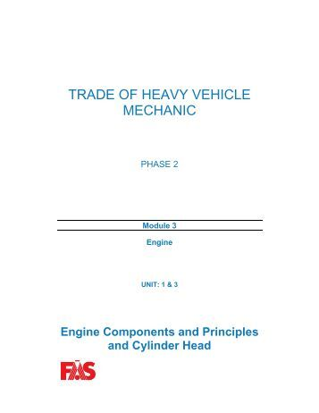 TRADE OF HEAVY VEHICLE MECHANIC - eCollege