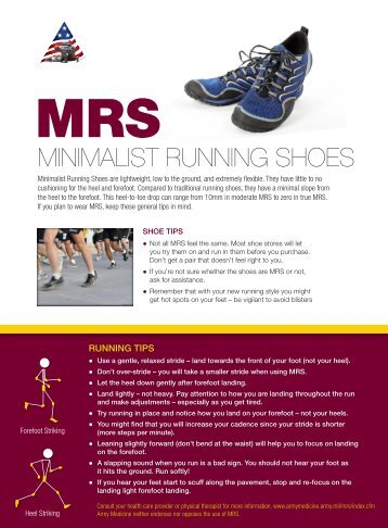 Minimalist Running Shoes (MRS)