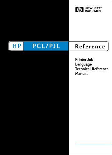 Printer Job Language Technical Reference Manual - Business ...