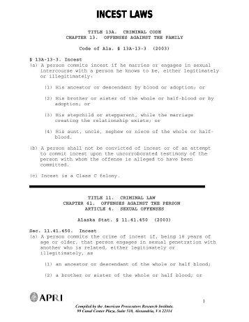 Incest laws - Arte Sana