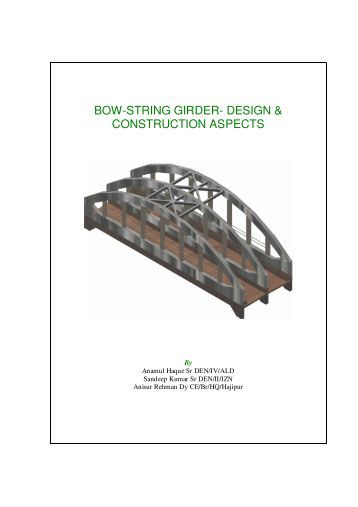Design Of Bow String Girder Bridge Pdf