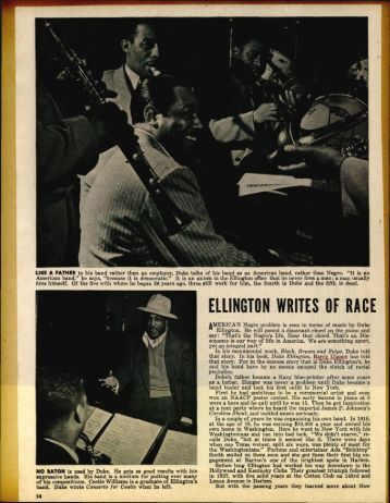ELLINGTON WRITES OF RACE - Jazz Studies Online