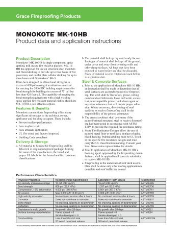 Monokote MK-10 HB - Grace Construction Products
