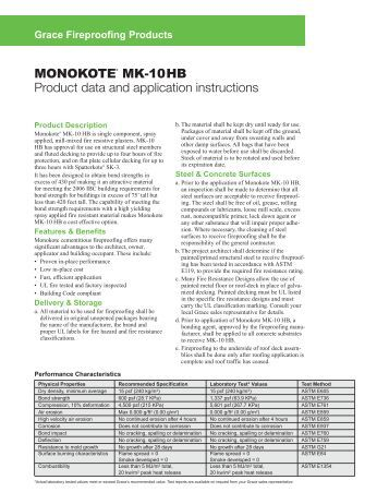 Monokote MK-10 HB - Grace Construction Products