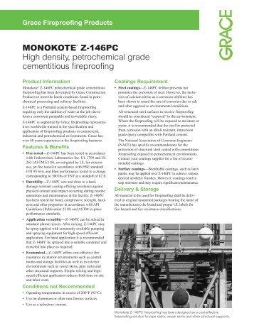MONOKOTE® Z-146PC High density, petrochemical grade - Grace ...