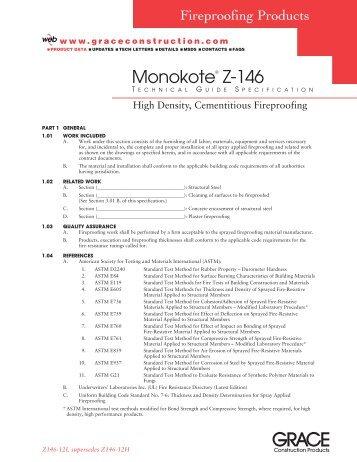 Z146-12I>146 TGSpec - Grace Construction Products