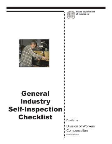 Example EPS Loss Prevention Self Inspection Checklist