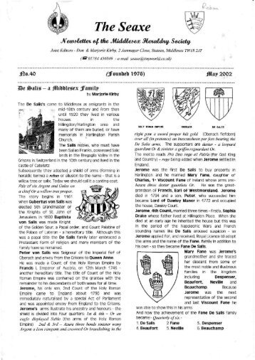 The Seaxe - Middlesex Heraldry Society