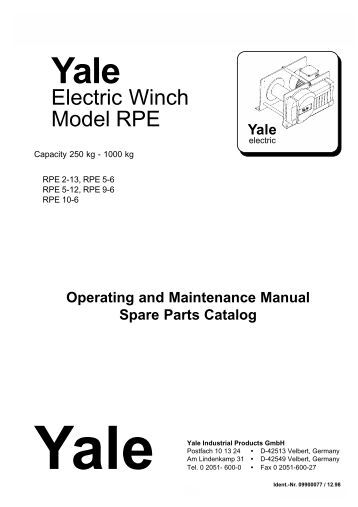 Electric Wire: Yale Electric Wire Rope Winch