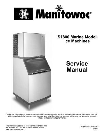 manitowoc indigo machine manual