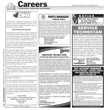 Auction & Career Listings - Ontario Farmer