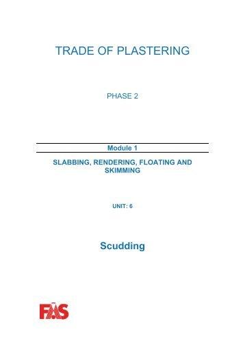 TRADE OF PLASTERING - eCollege