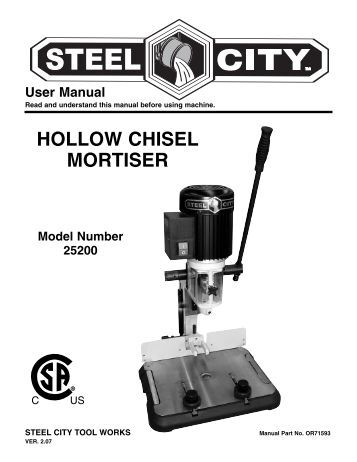 Steel City 25200 Benchtop Mortiser Has an Extension Table ...