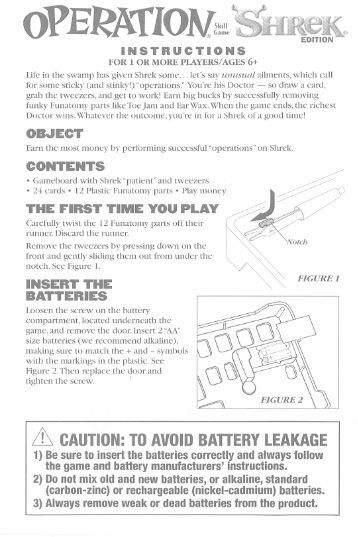 hasbro mouse trap instructions